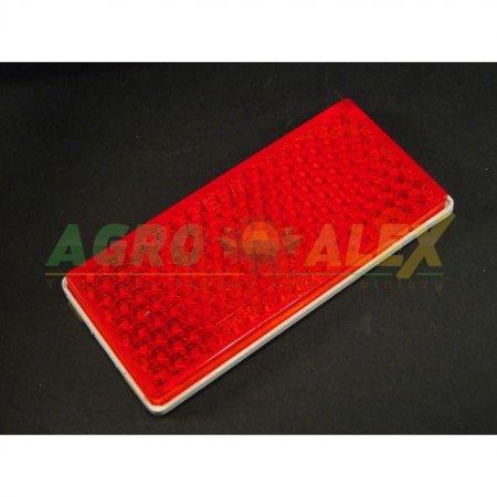 Odblask prostokątny 105x48 czerwony > Przyczepa > Części maszyn rolniczych