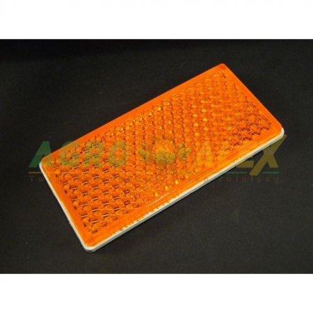 Odblask prostokątny 105x48 pomarańczowy > Przyczepa > Części maszyn rolniczych