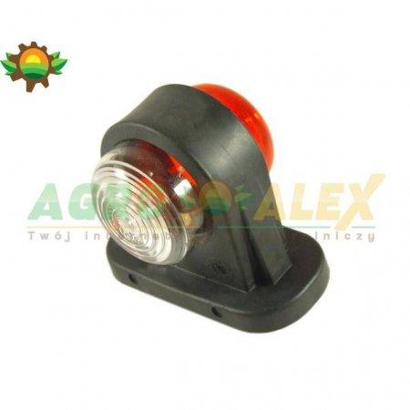 Lampa obrysowa biało- czerwona krótka JK-13-16271 > Przyczepa > Części maszyn rolniczych