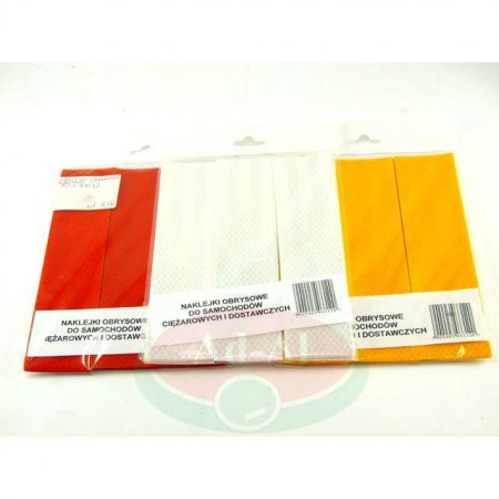 Naklejka odblaskowa obrysowa żółta 50x200-16593 > Odblaski > Oświetlenie i elektryka
