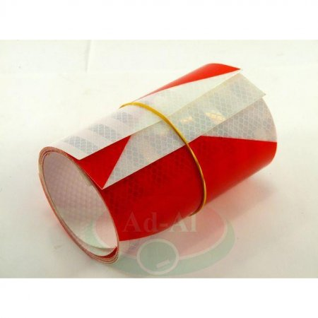 Naklejka odblaskowa biało-czerwona 140x1000-8931 > Odblaski > Oświetlenie i elektryka