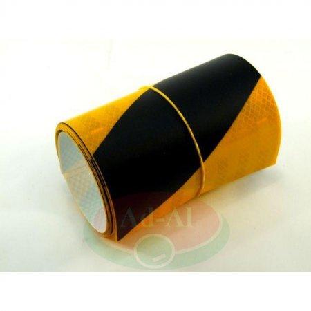 Naklejka odblaskowa żółto-czarna 140x1000-8933 > Odblaski > Oświetlenie i elektryka