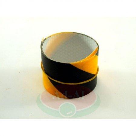 Naklejka odblaskowa żółto-czarna 50x500-8934 > Odblaski > Oświetlenie i elektryka